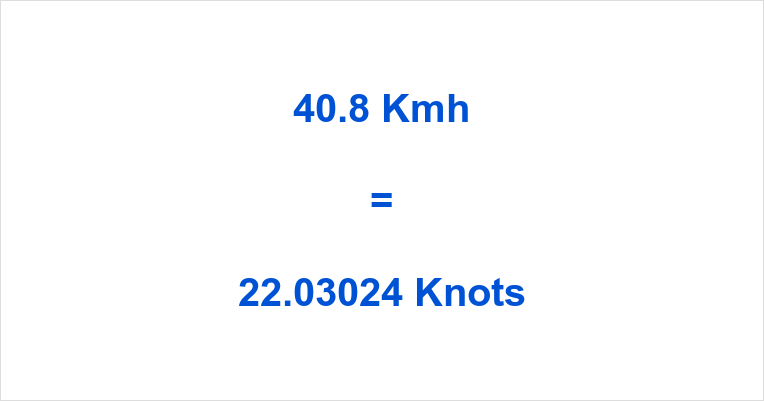 40.8 Kmh to Knots
