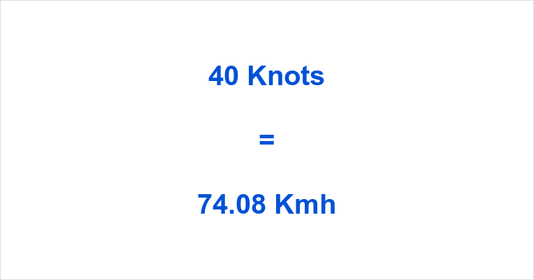 40 Knots to Kmh