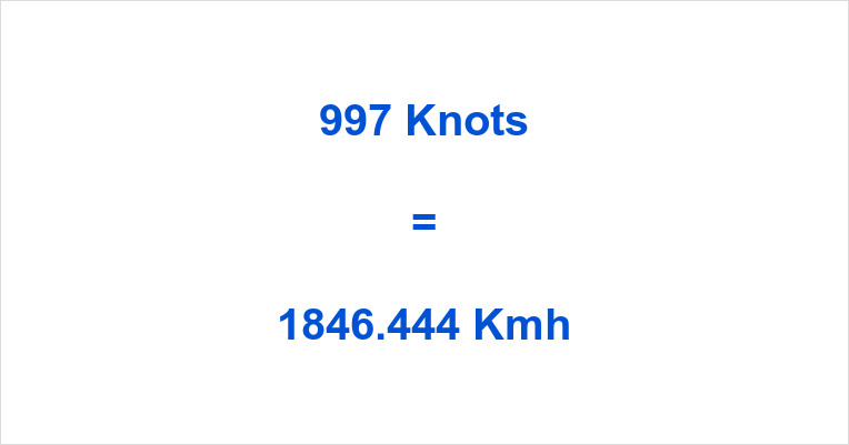997 Knots to Kmh
